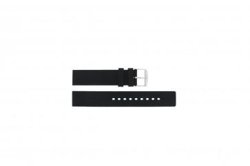 Horlogeband 6826 Silicoon Zwart 20mm