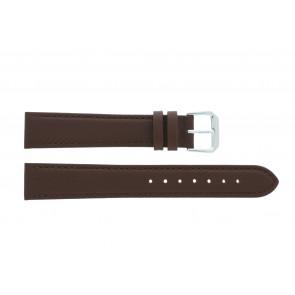 Horlogeband 054L.02 XL Leder Bruin 14mm + standaard stiksel
