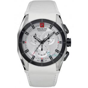 Horlogeband Swiss Military Hanowa 06-4191.33.001 Leder Wit