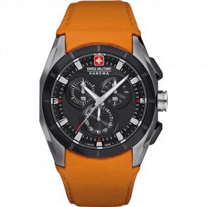 Horlogeband Swiss Military Hanowa 06-4191.33.007.79 Leder Oranje