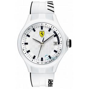 Ferrari horlogeband SF101.6 / 0830124 / SF689300071 / Scuderia Silicoon Wit 22mm