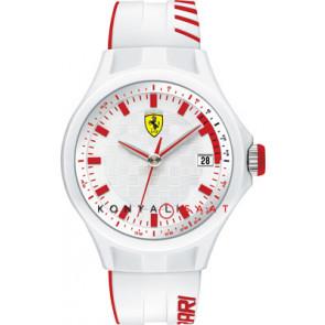 Ferrari horlogeband SF101.6 / 0830127 / SF689300079 / Scuderia Rubber Wit 22mm