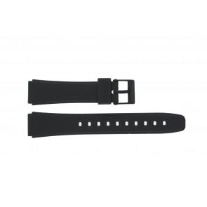 Casio horlogeband W-78-1 / W-79B-1AVQ /10222860 Silicoon Zwart 17mm