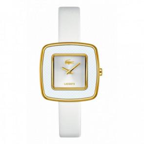 Lacoste horlogeband 2000749 / LC-65-3-29-2392 Leder Wit 12mm