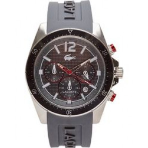Lacoste horlogeband 2010710 / LC-62-1-27-2464 Rubber Grijs 22mm