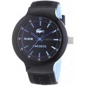 Lacoste horlogeband 2010719 / LC-61-1-29-2349 Rubber Zwart 16mm