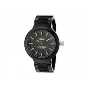 Lacoste horlogeband 2010771 / 2010768 / LC-61-1-29-2559 / LC-61-1-29-2560 Kunststof / Plastic Zwart 13mm
