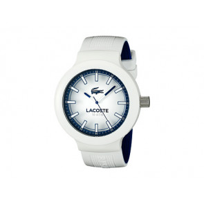 Lacoste horlogeband 2010795 / LC-61-1-29-2588 Rubber Wit 16mm