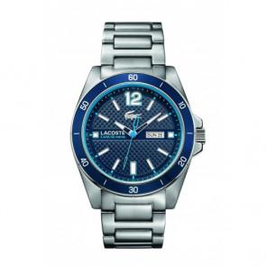 Lacoste horlogeband 210636 / 2010801 / LC-62-1-27-2352 /  2010637 / 2010638 /  2010639 /  2010640 Staal Zilver 22mm