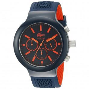 Lacoste horlogeband 2010813 / LC-61-1-29-2601 Rubber Blauw 16mm