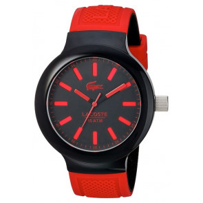 Lacoste horlogeband 2010814 / LC-61-1-29-2349 Rubber Rood 16mm