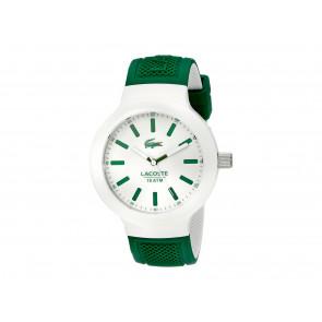 Lacoste horlogeband 2010816 / LC-61-1-29-2350 Rubber Groen 16mm