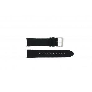Hugo Boss horlogeband HB-232-1-27-2731 / HB1513087 Leder Zwart 22mm + zwart stiksel