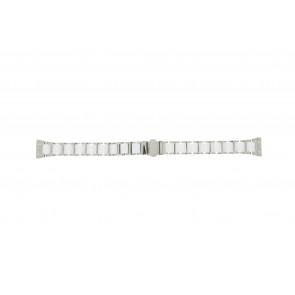Boccia horlogeband 3261-01 Staal/Silicoon Zilver 16mm