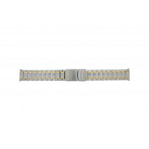 Other brand horlogeband Pebro 447-20 Staal Bi-Color 20mm