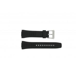 Seiko horlogeband 7T84-0AA0 / 4LJ7MBR Rubber Zwart 26mm