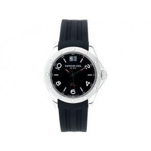 Raymond Weil horlogeband 5595 / SU2001-5595-18 / LA-94 / V437435 / 040563 3.05 Rubber Zwart 20mm