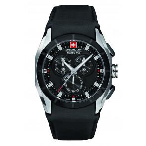 Horlogeband Swiss Military Hanowa 6-4191.33.007 Leder Zwart