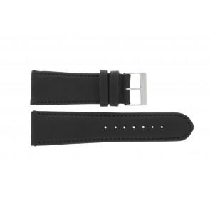 Horlogeband 61215B.10.26 Leder Zwart 26mm + standaard stiksel