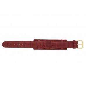 Horlogeband 61325.45.20 Leder Rood 20mm + rood stiksel