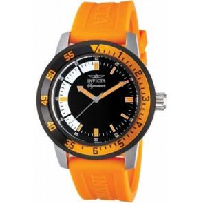Invicta horlogeband 7466.01  Rubber Oranje