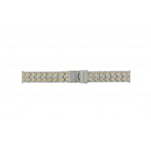 Other brand horlogeband Pebro 928-20 Staal Bi-Color 20mm