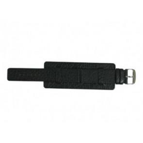Davis horlogeband B0220 Leder Zwart 22mm