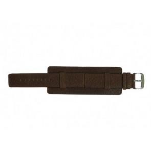 Davis horlogeband B0221 Leder Bruin 22mm