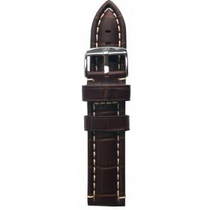 Davis horlogeband B0281 Leder Bruin 24mm