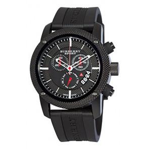 Horlogeband Burberry BU7701 Silicoon Zwart