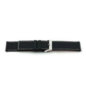 Echt lederen horloge band zwart 22mm H110