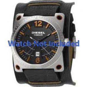 Diesel horlogeband DZ1212 Leder Zwart 28mm + standaard stiksel