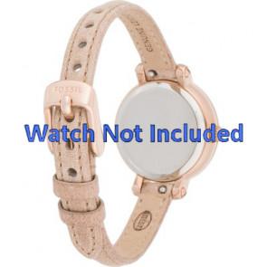 Fossil horlogeband ES3139 Leder Rosé 8mm
