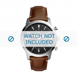 Fossil horlogeband FS5280 Leder Bruin 22mm + bruin stiksel