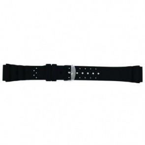 Horlogeband SL100 Silicoon Zwart 20mm