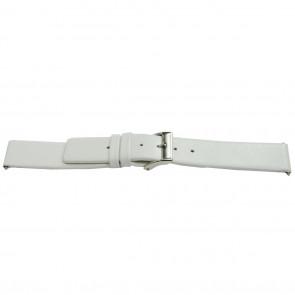 Horlogeband leder wit 16mm EX-E510
