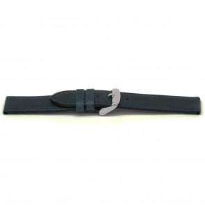 Horlogeband leder kayak blauw 16mm EX-E629