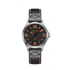Horlogeband Hamilton H76235731 Leder Zwart 19mm