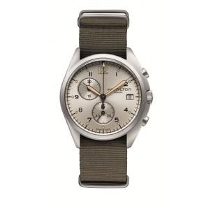Horlogeband Hamilton H76552955 Textiel Taupe 22mm