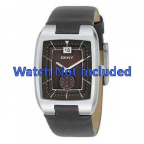 DKNY horlogeband NY-1319 Leder Bruin 20mm