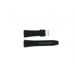 Danish Design horlogeband IQ14Q685 Rubber Zwart 19mm