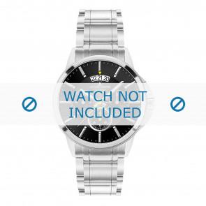 Jacques Lemans horlogeband 1-1542D Staal Zilver