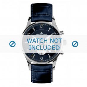 Jacques Lemans horlogeband 1-1654C Leder Blauw + standaard stiksel