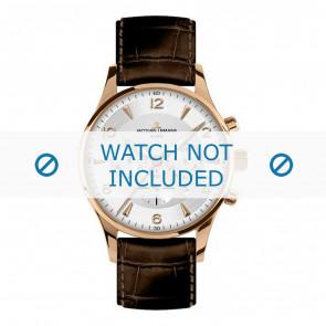Jacques Lemans horlogeband 1-1654H Leder Bruin + standaard stiksel