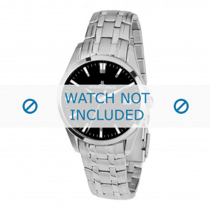 Jacques Lemans horlogeband 1-1769H Staal Zilver