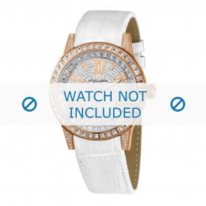 Jacques Lemans horlogeband 1-1798C Leder Wit + standaard stiksel