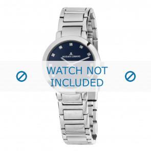 Jacques Lemans horlogeband 1-1842.1F Staal Zilver