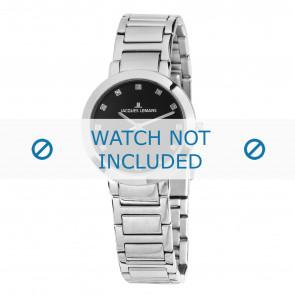 Jacques Lemans horlogeband 1-1842.1G Staal Zilver