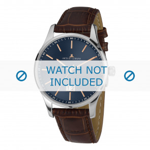 Jacques Lemans horlogeband 1-1862C Leder Bruin + standaard stiksel