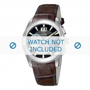Jaguar horlogeband J615-4 Croco leder Bruin 22mm + blauw stiksel